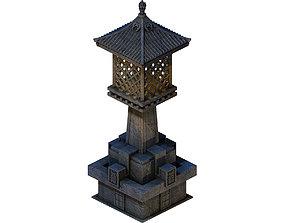 3D Huanglongshan - small stone lamp flag