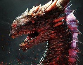 Dragon head Asian Deadly 3D model