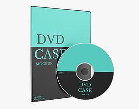 DVD case with disc mockup 3D model