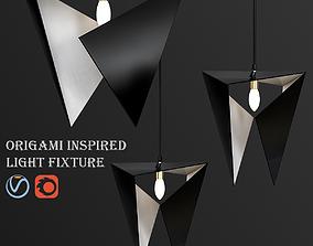 3D Origami inspired light fixture