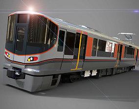 JR 323 Japan Commuter Train 3D Model Full Set low-poly