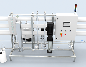 Reverse Osmosis RO Unit 3D model