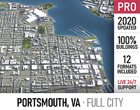 3D model Portsmouth - city and surroundings