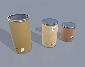 Drum barrels pack 1 3D asset