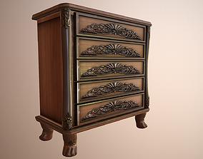 3D model Cabinet Dresser Wood Carved