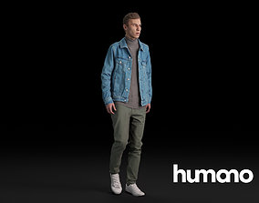 Humano Casual Man Standing and walking 0410 3D model