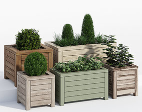 3D model Prestige contemporary planter