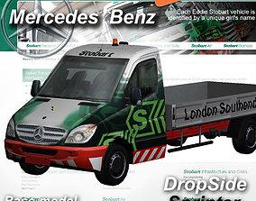 3D asset Mercedes-Benz Sprinter Dropside Stobart