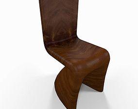 Wooden kitchen chair 3D interior