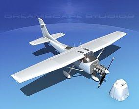 Cessna 182 Skylane White Livery 3D model