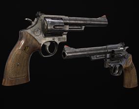 3D model Revolver 44 Magnum