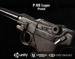 3D asset P 08 luger pistol