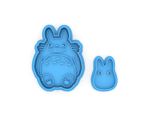 Totoro smile and Chibi cookie 3D printable model