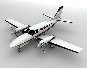 Cessna Conquest 425 Aircraft 3D model