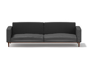 Dark Grey Sofa 1 3D