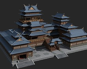 3D model Ancient palaces of large buildings of China
