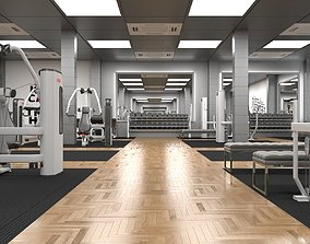 3D model Gym Design For a Sports center in Oman exercise