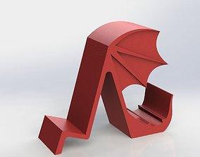 Dragon Phone Holder slim 3D print model