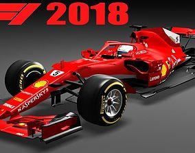 3D model Formula 1 SF71H F1 2018