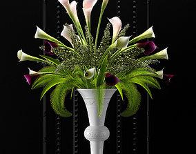 Flower Vase 3D flora