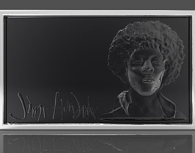 Jimi Hendrix 10mm deep 3D printable model