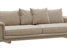 3D model Roche Bobois UNDERLINE 4-seat sofa