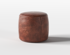 Puff old Leather 3D