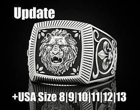 Ring lion Update 3D printable model