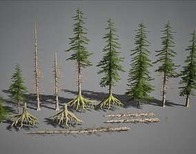 3D model UE4 - Fir Trees