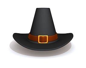 Thanksgiving Pilgrim Hat 3D model