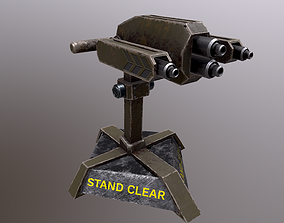 3D model animated TURRET 02