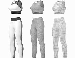 3D asset Woman Sportswear 6 Base Mesh Design Kit