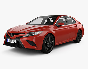 3D model Toyota Camry XV60 XSE with HQ interior 2017