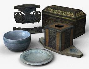 3D asset Medieval props