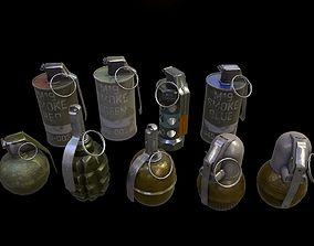 Grenades Pack 3D asset