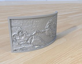 3D print model The Creation of Adam lithophane