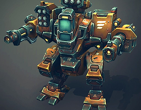 3D asset Mech Constructor - Light and Medium Robots