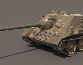 Tank SU-100 3D asset