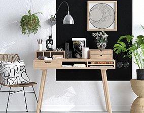 3D model HOME OFFICE ROOM CORONA SCENE 01