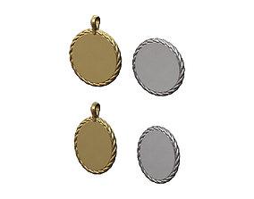 3D print model Round and ovale engravable pendants
