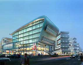 3D Multi-storied Office Building Design