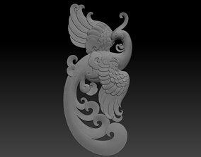 Phoenix pendant 3D print model