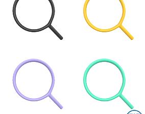 3D model Search Symbol V1 Pack 01