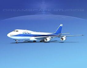 Boeing 747-100 Jumbo Jet El Al 3D model multi-engine