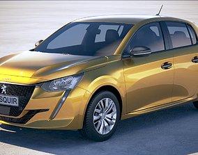 3D model Peugeot 208 basic 2020 VRAY