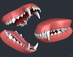 Wolf Dog Teeth Set 3D