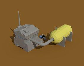Low Poly Scifi Generator 3D asset