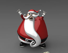cartoon Santa Claus 3D