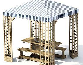 Lattice Work Gazebo 3D model