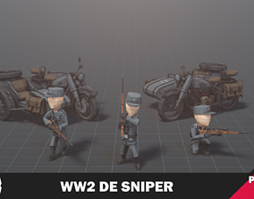WW2 DE Sniper 3D model animated